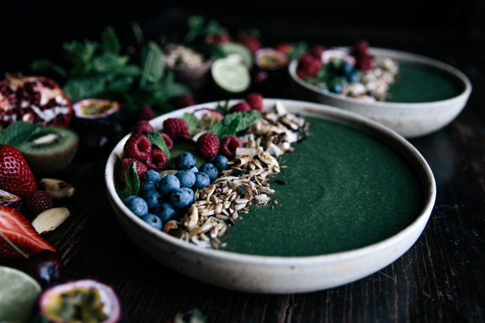 Super Green Smoothie Bowl  |  Gather & Feast