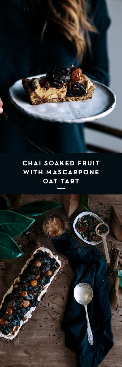 Chai Soaked Fruit with Mascarpone Oat Tart  |  Gather & Feast