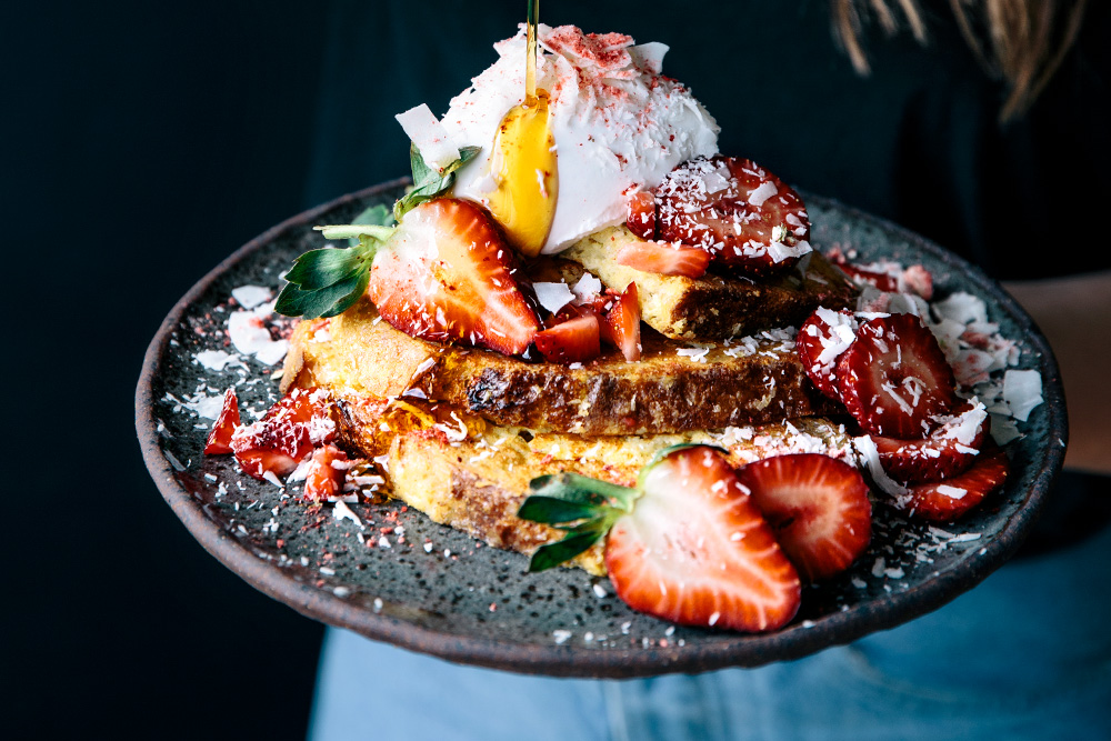 Coconut French Toast with Fresh Strawberries  |  Gather & Feast