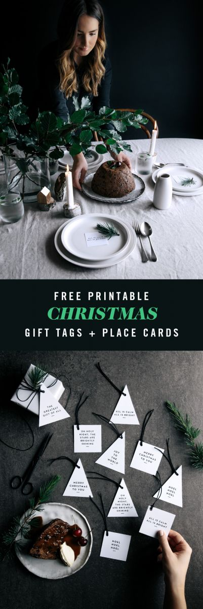 Free Christmas Gift Tags & Place Cards  |  Gather & Feast