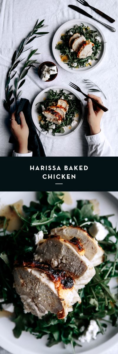 Harissa Baked Chicken  |  Gather & Feast