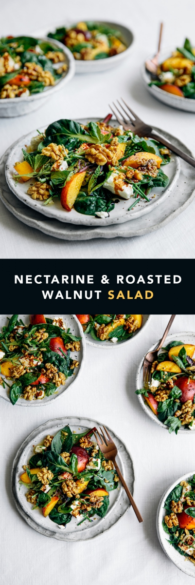 Nectarine & Roasted Walnut Salad  |  Gather & Feast