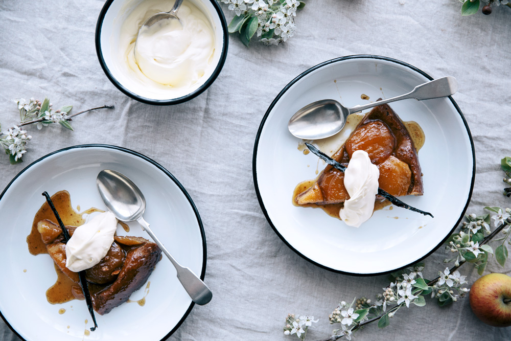 Spelt & Maple Apple Tarte Tatin  |  Gather & Feast