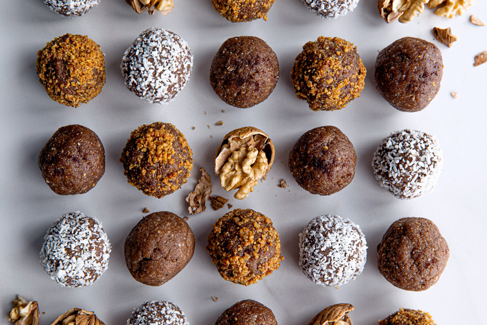 Roasted Walnut & Maple Spiced Protein Balls  |  Gather & Feast