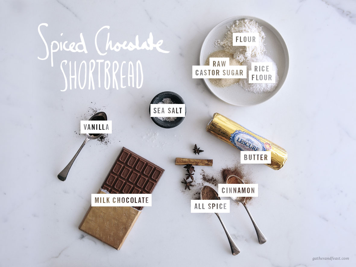 Spiced Chocolate Shortbread  |  Gather & Feast