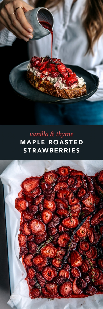 Vanilla & Thyme Maple Roasted Strawberries  |  Gather & Feast