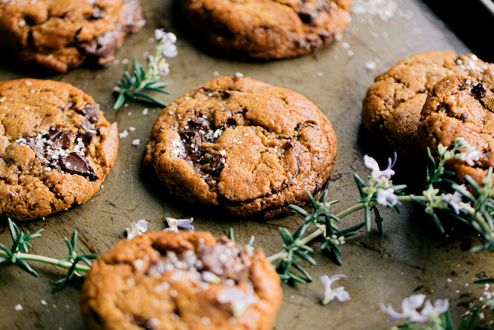 Vegan Olive Oil Chocolate Chip Cookies  |  Gather & Feast