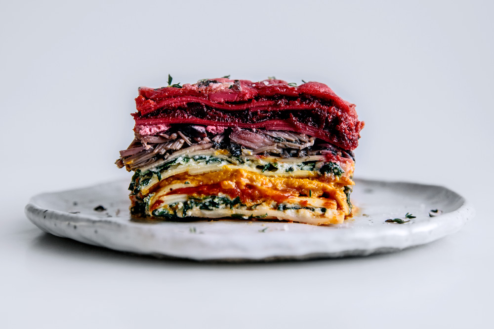 Vegetable Packed 'Rainbow' Lasagne  |  Gather & Feast