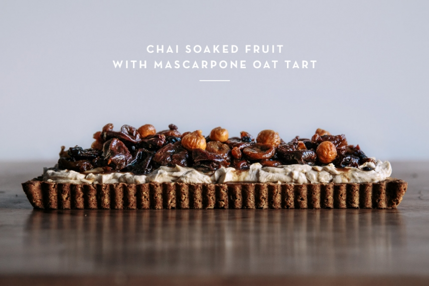 Chai+Soaked+Fruit+with+Mascarpone+Oat+Tart++%7C++Gather+%26+Feast