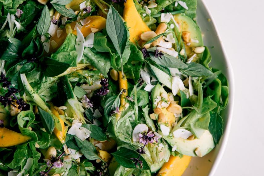 Mango+%26+Avocado+Salad+with+Toasted+Coconut+%26+Thai+Basil++%7C++Gather+%26+Feast