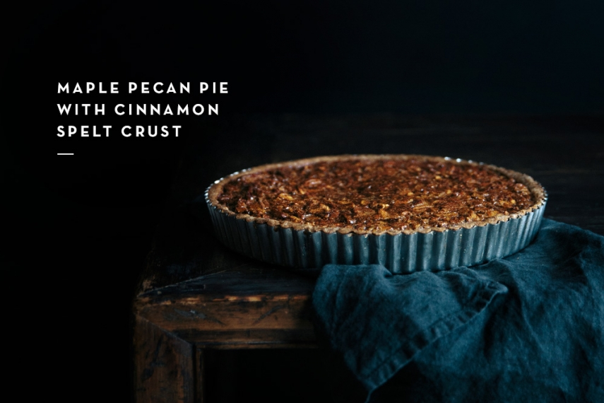 Maple+Pecan+Pie+with+Cinnamon+Spelt+Crust++%7C++Gather+%26+Feast