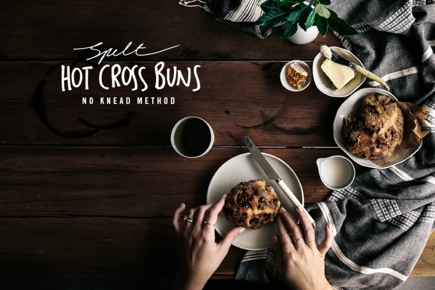 Spelt+Hot+Cross+Buns+%28No+Knead+Method%29++%7C++Gather+%26+Feast