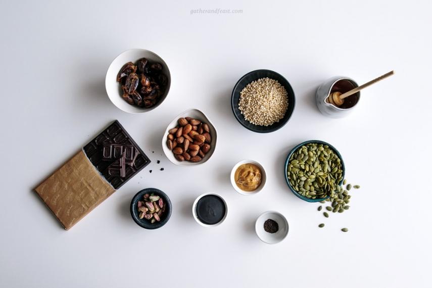 Almond%2C+Pistachio+%26+Quinoa+Dark+Chocolate+Bars++%7C++Gather+%26+Feast