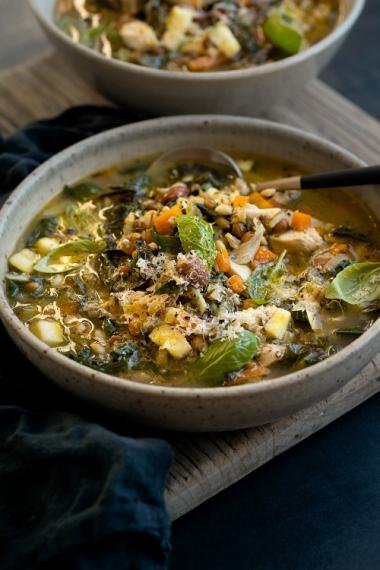 Chicken%2C+Vegetable+%26+Barley+Soup+with+Fresh+Basil+%26+Lemon++%7C++Gather+%26+Feast
