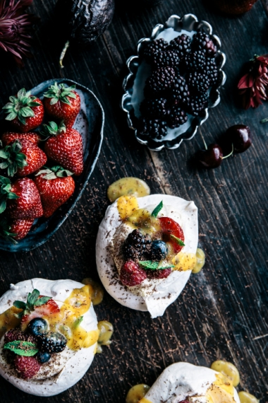 Meringues+with+Vanilla+Mascarpone+Cream%2C+Passionfruit+Curd%2C+Berries+%26+Fresh+Mint++%7C++Gather+%26+Feast