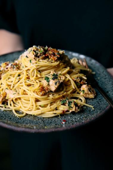 Tuna+%26+Walnut+Spaghetti+Recipe++%7C++Gather+%26+Feast