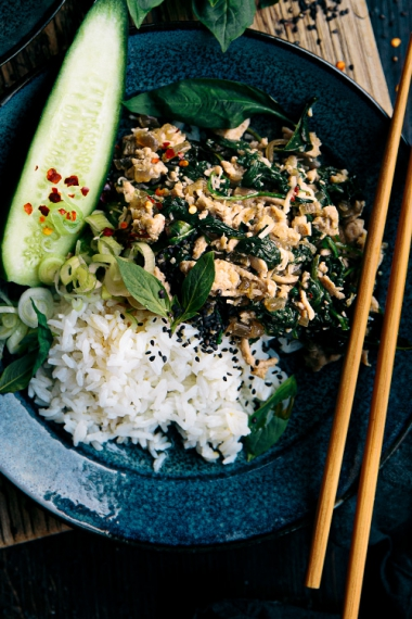 Chicken%2C+Coconut+%26+Thai+Basil+Bowls++%7C++Gather+%26+Feast