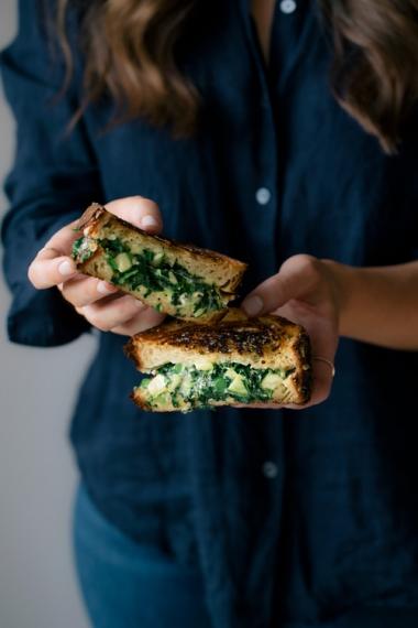 Greens+Loaded+Toastie+with+Fresh+Basil+%26+Feta++%7C++Gather+%26+Feast