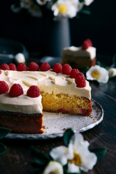 Lemon+Raspberry+Cake+with+Zesty+Cream+Cheese+Frosting++%7C++Gather+%26+Feast