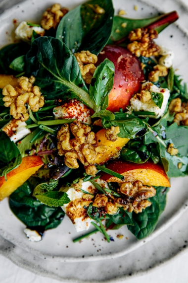Nectarine+%26+Roasted+Walnut+Salad++%7C++Gather+%26+Feast
