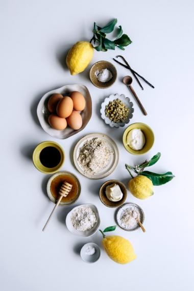 Lemon%2C+Olive+Oil+Vanilla+Cake+with+Yoghurt+Cream+%26+Chamomile++%7C++Gather+%26+Feast