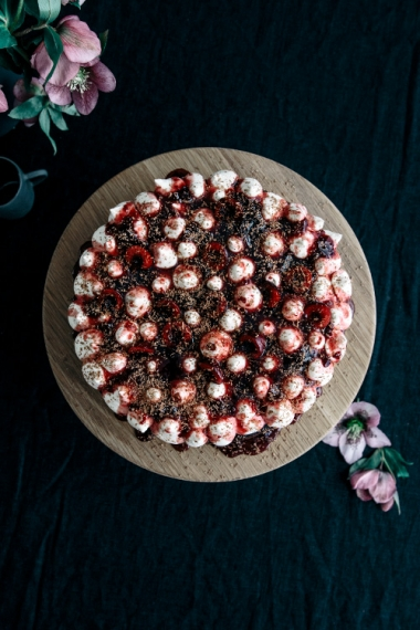 Steamed+Black+Forest+Mud+Cake+with+Vanilla+Mascarpone+%26+Vanilla+Cherry+Jam++%7C++Gather+%26+Feast
