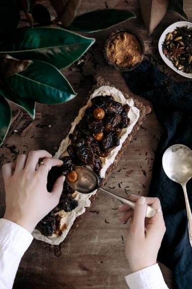 Chai+Soaked+Fruit+with+Mascarpone+Oat+Tart++%7C++Gather+%26+Feast