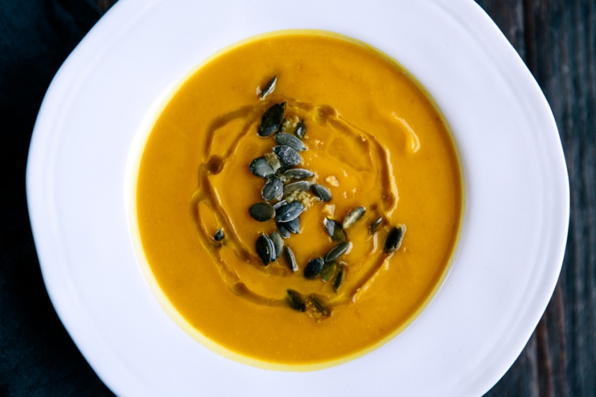 Pumpkin%2C+Turmeric+%26+Ginger+Soup++%7C++Gather+%26+Feast