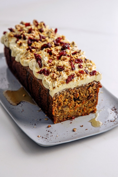 Craisin+Spiced+Carrot+Cake+with+Cream+Cheese+Frosting++%7C++Gather+%26+Feast