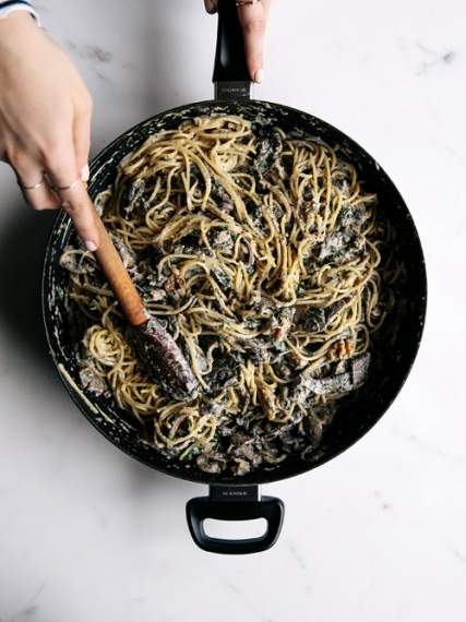 Mushroom%2C+Walnut+%26+Lemon+Spaghetti++%7C++Gather+%26+Feast