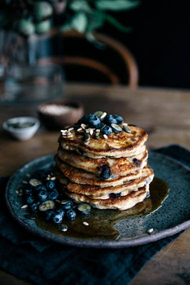 Buckwheat+Blueberry+%26+Ricotta+Hotcakes+with+Maple+%26+Seeds++%7C++Gather+%26+Feast