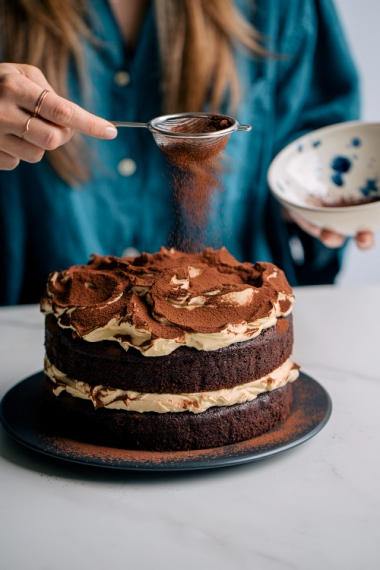 Rich+Chocolate+Layer+Cake+with+Baileys+Cream+Cheese+Frosting++%7C++Gather+%26+Feast