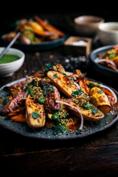 Smokey+Warm+Potato+Salad+with+Crispy+Quinoa++%7C++Gather+%26+Feast