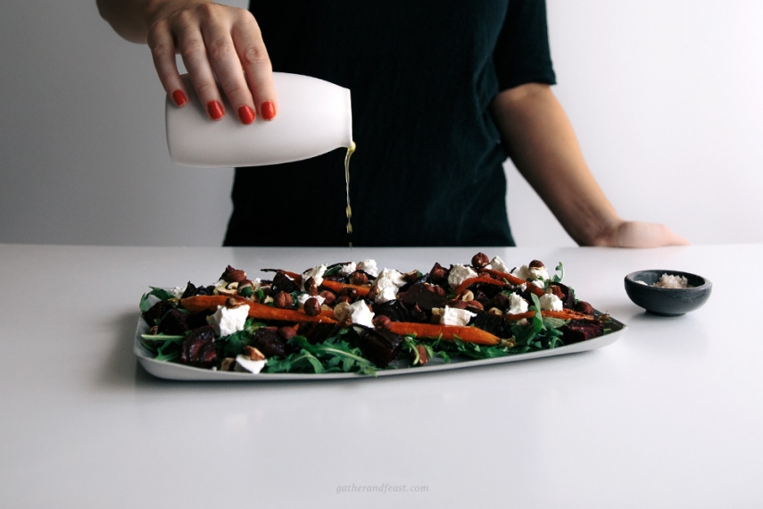 Roasted+Beetroot+%26+Carrot+Salad+with+Che%CC%80vre++%7C++Gather+%26+Feast