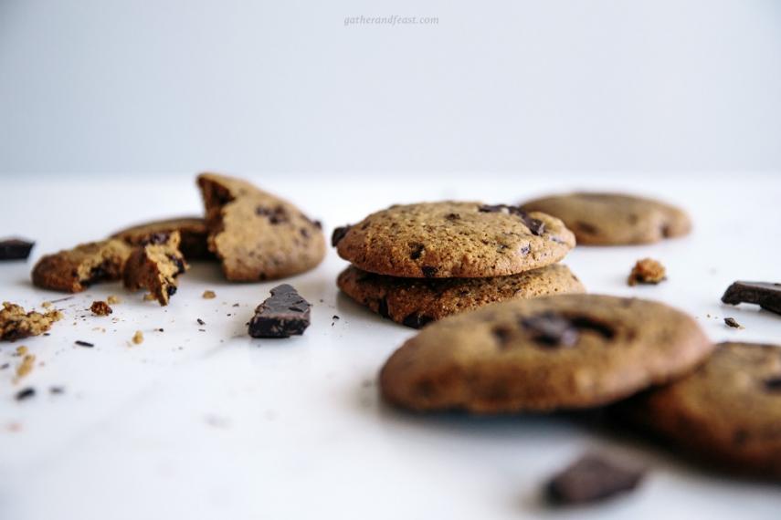 Chewy+Chocolate+%26+Hazelnut+Cookies++%7C++Gather+%26+Feast