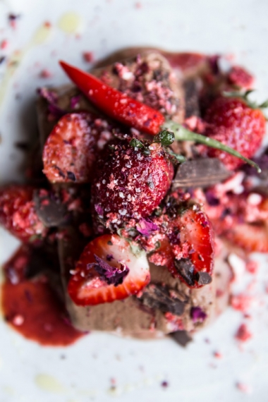 Chocolate+Semifreddo+with+Chili%2C+Strawberry%2C+Olive+Oil+%26+Rose++%7C++Gather+%26+Feast