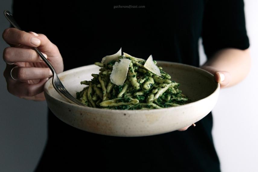 Kale+%26+Basil+Pesto+with+Pasta++%7C++Gather+%26+Feast