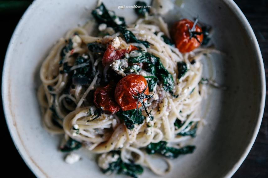 Roasted+Tomato%2C+Basil+%26+Feta+Gluten+Free+Pasta++%7C++Gather+%26+Feast