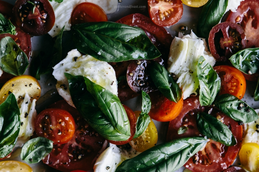 Torn Buffalo Mozzarella With Tomato Fresh Basil Beautiful Food Simple Wholesome Recipes The Occasional Sweet Treat Gather Feast