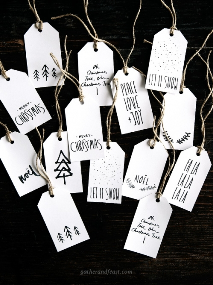 photo about Printable Christmas Tags Black and White identify Free of charge Xmas Reward Tags Appealing food stuff, uncomplicated healthier
