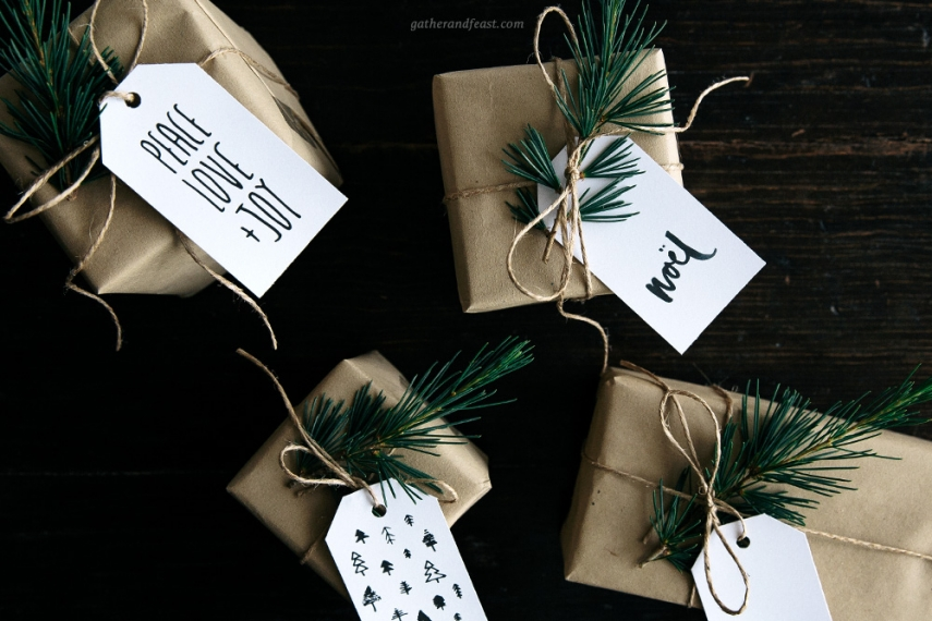 Free Christmas Gift Tags Beautiful Food Simple Wholesome